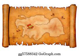 Treasure - Pirate's Treasure Map