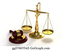 Judge-Gavel - Scales Of Justice And Gavel.