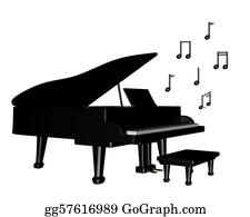 Music-Notes-On-Piano-Keyboard - Grand Piano With Musical Notes