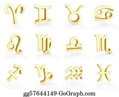 Zodiac-Sign-Crab - 12 Golden Zodiac Symbols