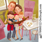 Illustration-With-Happy-Family - Starving Family