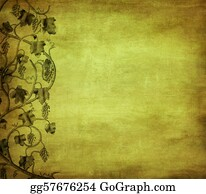 Grape-Leaf - Grunge Background With Grape, Ideal Pattern For Wine List