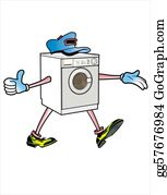 Feet - Cartoon Washing Machine