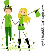 Leprechaun-Woman - Couple In Saint Patrick's Day Costumes