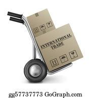International-Trade - International Trade Hand Truck Cardboard Box