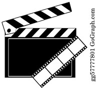 Movie-Production - Movie Film Strip And Clapboard