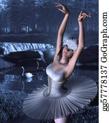 Swan - Swan Lake - Odette And Swans