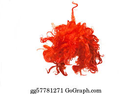 Wig - Isolated Red Wig