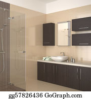 Cabin - Modern Beige Bathroom
