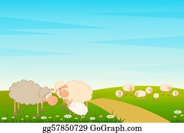 Lamb - Family Of Cartoon Sheep