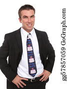 Birthday-Suit - Business Man With Happy Birthday Tie