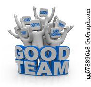 Hard-Work - Good Team - People With Teamwork Qualities