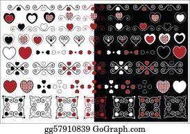 Fleur-De-Lys - Valentine Designs With Gingham Trim