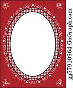 Fleur-De-Lys - Valentine Frame Or Tag With Gingham
