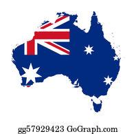 Australia - Australia Flag On Map