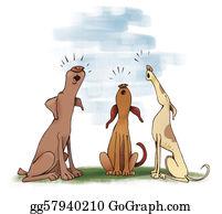 Barking-Dog - Three Howling Dogs