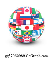Globe-Flags - World Flags On Globe