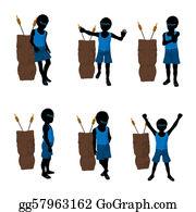 Tiki-Mask - African American Beach Boy Silhouette Illustration