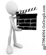 Movie-Production - Guy With Movie Clapboard