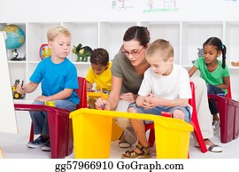 Teacher - Preschool Students And Teacher