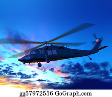 Helicopter - Helicopter Flying In Night