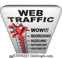 Increase - Web Traffic Thermometer - Popularity Increasing