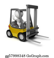 Hydraulic - 3d Small People - Forklift