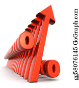 Increase - Percentage Increasing Financial Concept