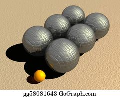 Six-Spheres-Balls-Illustration-With - Petanque Game Balls