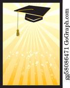 Graduation - Graduation Mortar Card In Yellow Spotlight.