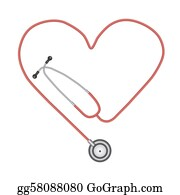Cpr - Image Of A Stethoscope Isolated On A White Background.