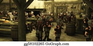 Beards - Toon Viking Dwarf Horde In Tavern