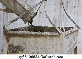 Concrete-Pump-Truck - Concrete Pouring From Mixer Truck