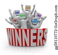 Hard-Work - Winners - People With Teamwork Qualities