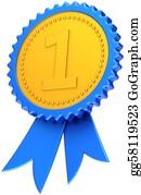 Badge - Award Ribbon First Place Leader