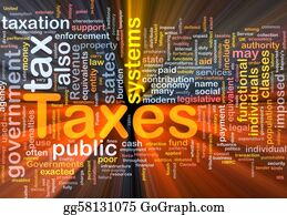 Government-And-Economy - Taxes Background Concept Glowing