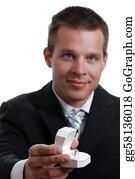 Birthday-Suit - Man Presenting A Wedding Ring