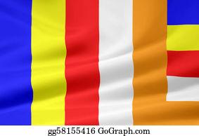 Buddhist - Flag Of Buddhism