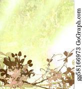 Text-Dividers - Elegant Flower Art Textured Background