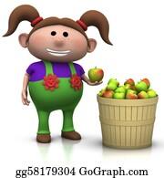 Basket - Apple Harvest - Girl