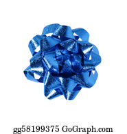 Wrap - Blue Gift Wrap Bow