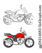 Motorcycle - Stylised Motorcycle Vector Illustration