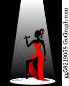 Singer - The Beautiful Singer On A Scene