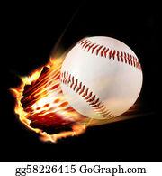 Baseball - Flaming Baseball