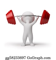 Ring-A-Ring - 3d Small People - Weightlifting