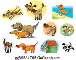 Growl - Raster Illustrations Of Dogs