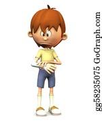 Sad-Child - Sad Cartoon Boy With Broken Arm.