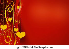Golden-Love-Hearts - Elegant Golden And Red Backgrounds With Hearts And Stars