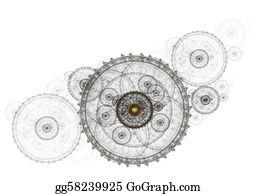 Power-Transmission-Line -    Ancient Mechanism, Metallic Clockwork