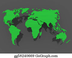 Map-Of-India - World Map Black Green